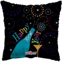 45 cm-es Happy New Year pezsgős fólia lufi