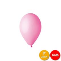26 cm-es rózsaszín gumi lufi 10 db/cs