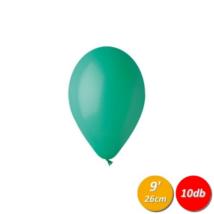 26 cm-es sötétzöld gumi lufi 10 db/cs