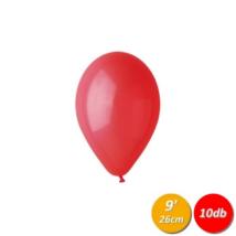 26 cm-es piros gumi lufi 10 db/cs