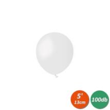 13 cm-es fehér gumi lufi 100 db/cs