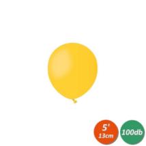 13 cm-es napsárga gumi lufi 100 db/cs