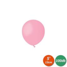 13 cm-es rózsaszín gumi lufi 100 db/cs