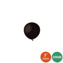 13 cm-es fekete gumi lufi 100 db/cs
