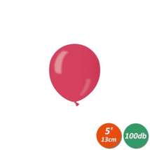13 cm-es metál piros gumi lufi 100 db/cs