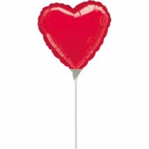 23 cm-es piros szív fólia lufi