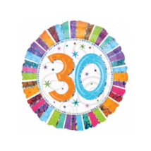 45 cm-es Radiant Happy Birthday 30 fólia lufi / Anagram