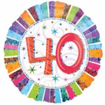 45 cm-es Radiant Happy Birthday 40 fólia lufi