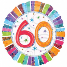 45 cm-es Radiant Happy Birthday 60 fólia lufi / Anagram
