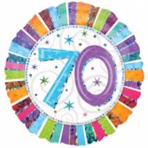 45 cm-es Radiant Happy Birthday 70 fólia lufi
