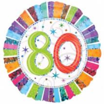 45 cm-es Radiant Happy Birthday 80 fólia lufi / Anagram
