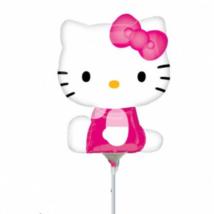 Mini Hello Kitty pink ruhás  fólia lufi