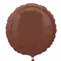 45 cm-es kerek barna fólia lufi
