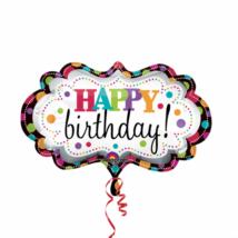 SuperShape Happy Birthday Marquee fólia lufi 69x41cm