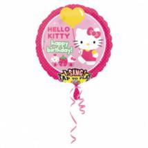 Sing-a-Tune-Zenélő Happy Birthday Hello Kitty fólia lufi