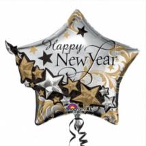 Multi -Balloon -Happy New Year fólia lufi