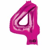 4-es pink szám fólia lufi 66 x 88 cm, csomagolt