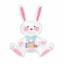 Happy Easter Ülő nyuszi fólia lufi