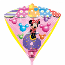 45 cm-es Minnie 6th Birthday diamond forma fólia lufi