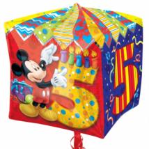 38 cm-es Mickey 5th Birthday  kocka fólia lufi