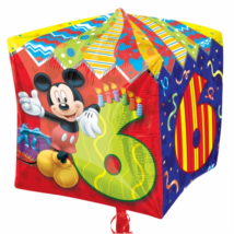 38 cm-es Mickey 6th Birthday  kocka fólia lufi