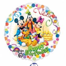 43 cm-es Happy Birthday Mickey fólia lufi