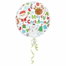 45 cm-es Merry Christmas csomagolt fólia lufi / Anagram