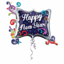 SuperShape -Happy New Year indás fólia lufi