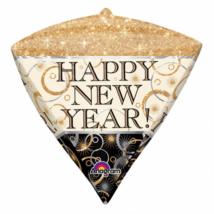 43 cm-es Happy New Year gyémánt alakú fólia lufi