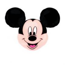 Super Mickey fej fólia lufi AV