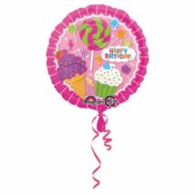 Muffinos Happy Birthday 45 cm-es csomagolt fólia lufi / Anagram