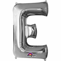 81 cm-es ezüst színű E betű fólia lufi