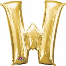 71 x 83 cm-es arany betű fólia lufi W