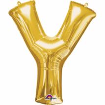 76 x 86 cm-es arany betű fólia lufi Y