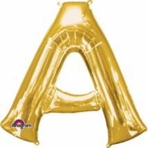 35 cm-es arany betű fólia lufi A