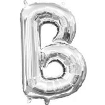 22 cm-es ezüst betű fólia lufi B