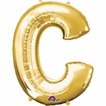 22 cm-es arany betű fólia lufi C