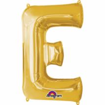 20 cm-es arany betű fólia lufi E