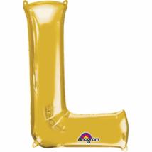 20 cm-es arany betű fólia lufi L