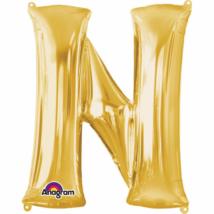 27 cm-es arany betű fólia lufi N