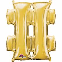 27 cm-es arany # szimbólum fólia lufi