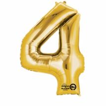 4-es arany szám fólia lufi 22 x 35 cm