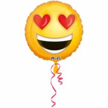 45 cm-es Smiley szív szemű fólia lufi
