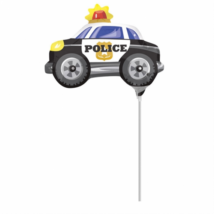 Rendőrautó mini fólia lufi