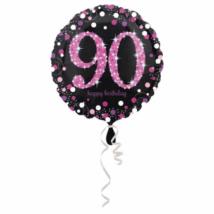 45 cm-es pink-fekete fólia lufi 90. születésnapra
