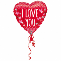 43 cm-es I Love Standard fólia lufi/Anagram