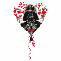 43 cm-es Love Star Wars fólia lufi