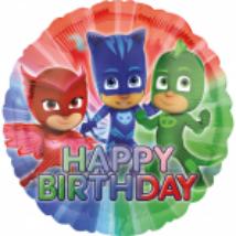 45 cm-es PJ Masks Happy Birthday fólia lufi