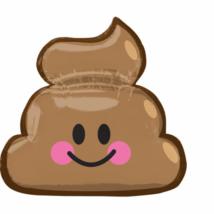 Emoticon Poop- Emoji Kaki szuper fólia lufi / Anagram