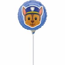 23 cm-es Mancs őrjárat Emoji fólia lufi